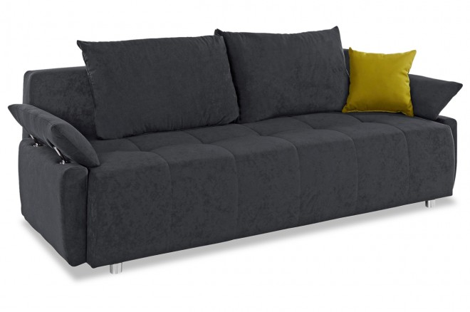 Collection AB 3er-Sofa Funtastic - mit Schlaffunktion - Anthrazit