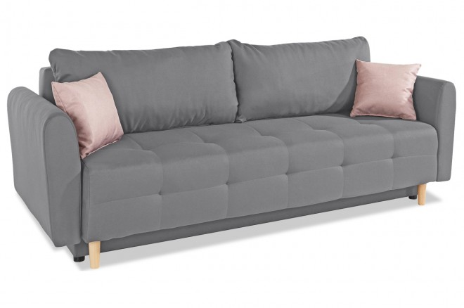 Collection AB 3er-Sofa Nordic - Grau