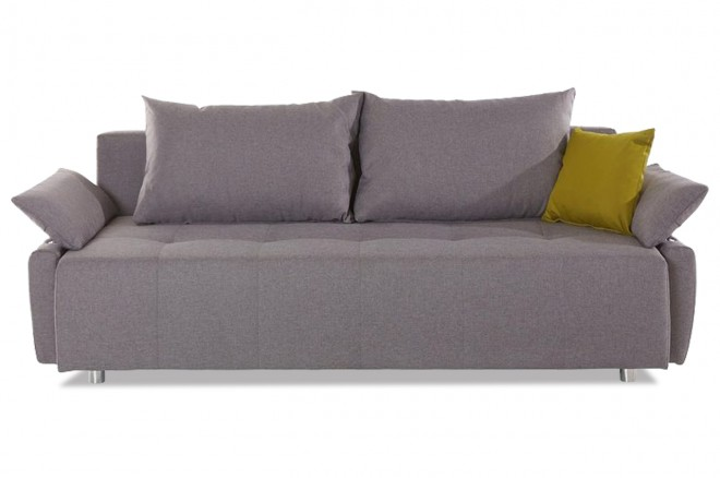 Collection AB Schlafsofa Funtastic - Grau mit Federkern
