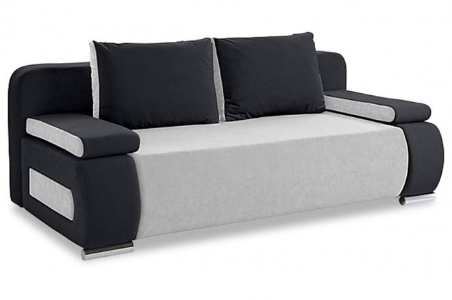 Collection AB 3er-Sofa Moritz - mit Schlaffunktion - Grau