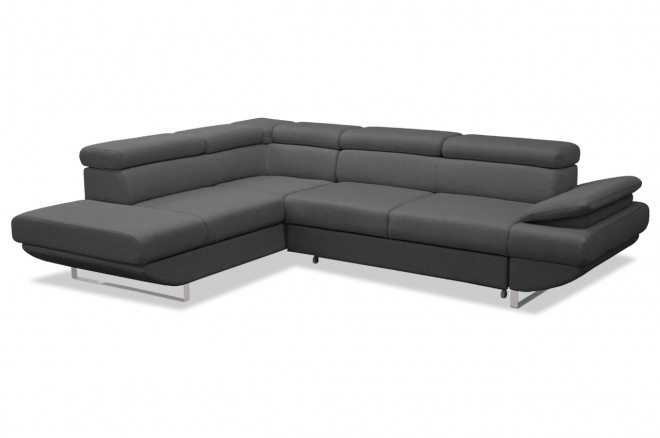 Wersal Ecksofa XL Gio links - mit Schlaffunktion - Anthrazit