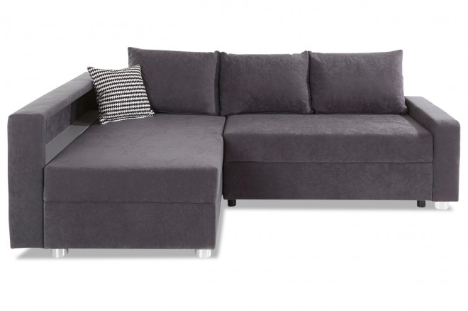 Collection AB Ecksofa Relax - mit Schlaffunktion - Anthrazit