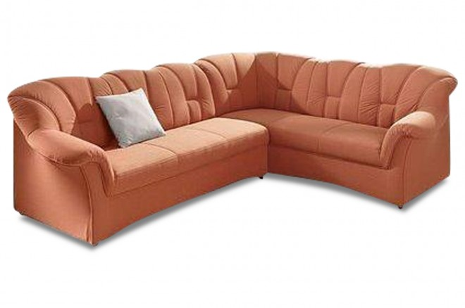 Ecksofa XL Papenburg-M - mit Schlaffunktion - Orange