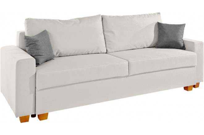 Collection AB 3er-Sofa Merano - Grau mit Federkern