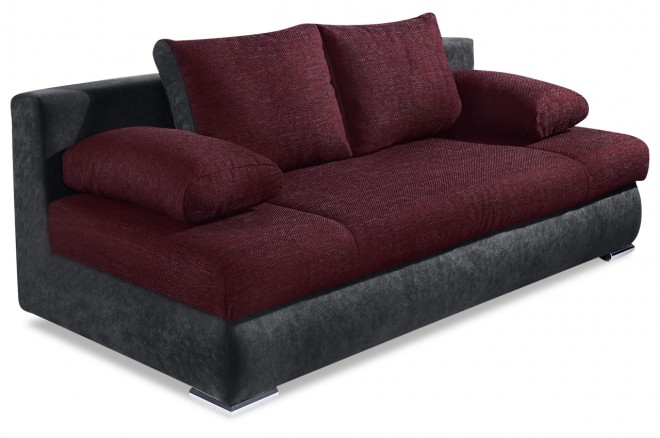 Collection AB 3er-Sofa Chiara New - mit Schlaffunktion - Violette