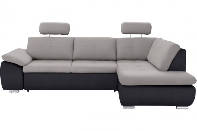 Atlantic Collection Ecksofa XL Klermon  - Grau mit Federkern