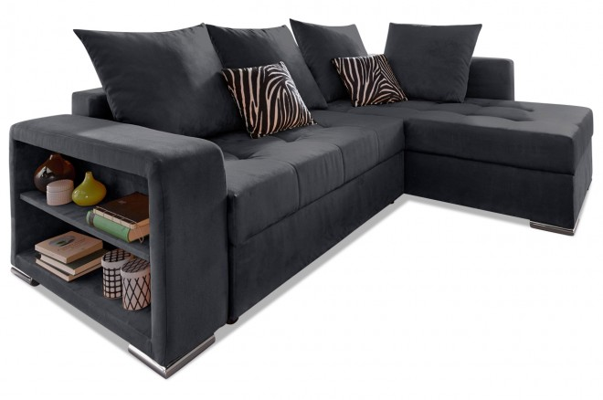 Collection AB Ecksofa XL Joni Pur - Schwarz