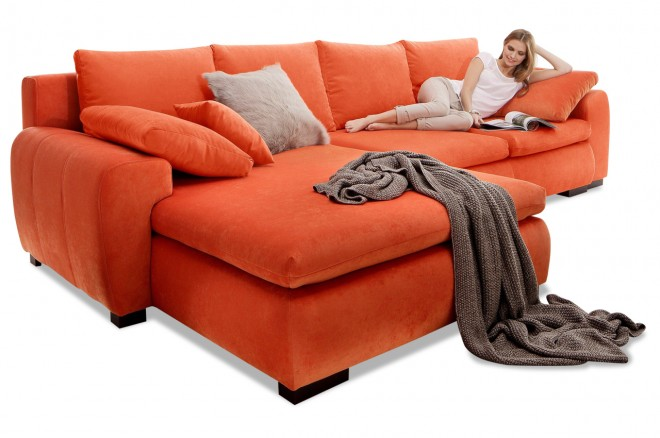 Collection AB Ecksofa Cara Mia  - Orange
