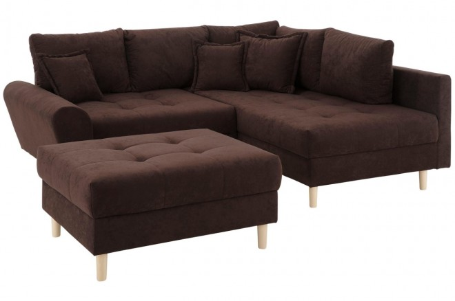 Collection AB Ecksofa XL Rice  rechts - Braun mit Federkern