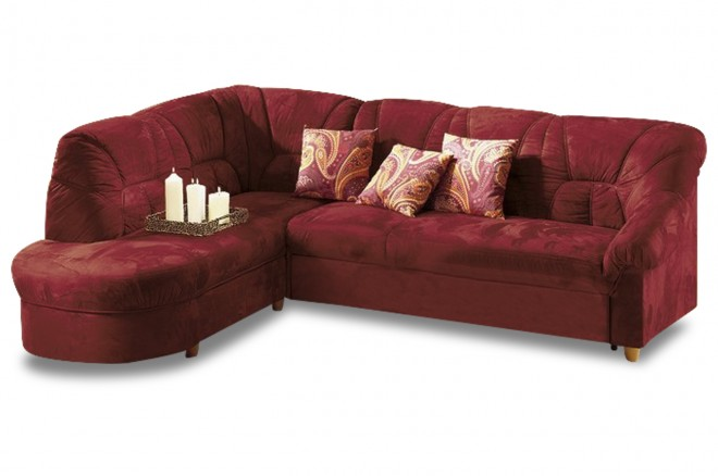 Furntrade Ecksofa XL Tossens links - Rot