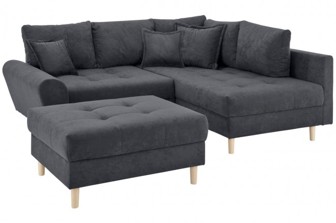 Collection AB Ecksofa XL Rice  rechts - Anthrazit mit Federkern
