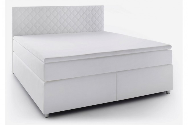 meise.möbel Boxspringbett 180x200 Fly  - Weiss mit Boxspring