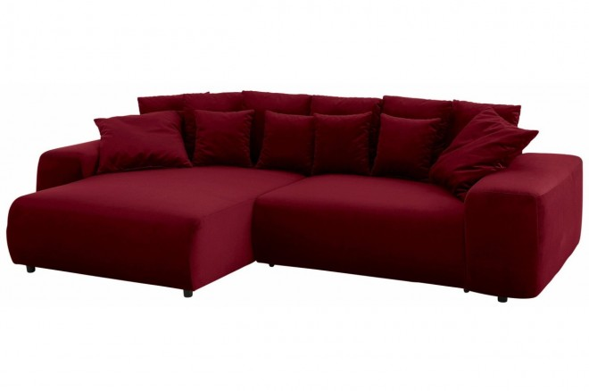 Castello Ecksofa Sundance links - mit Schlaffunktion - Bordeaux