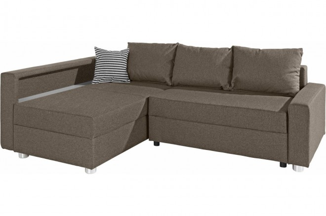 Collection AB Ecksofa Relax links - mit Schlaffunktion - Cappuccino