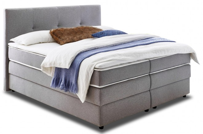 Boxspringbett 180x200 Merlin - Anthrazit mit Boxspring