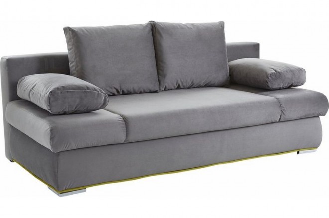 Collection AB 3er-Sofa Chiara New - mit Schlaffunktion - Grau