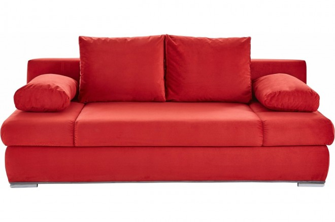 Collection AB 3er-Sofa Chiara New - mit Schlaffunktion - Rot