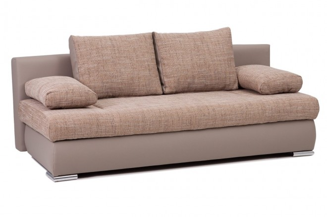Collection AB 3er-Sofa Chiara New - mit Schlaffunktion - Cappuccino