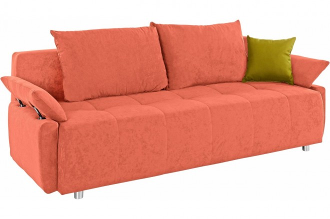 Collection AB 3er-Sofa Funtastic - mit Schlaffunktion - Terrakotta