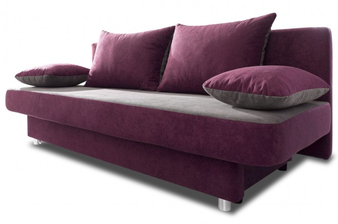 Collection AB 3er-Sofa Ulla Matmix - mit Schlaffunktion - Anthrazit