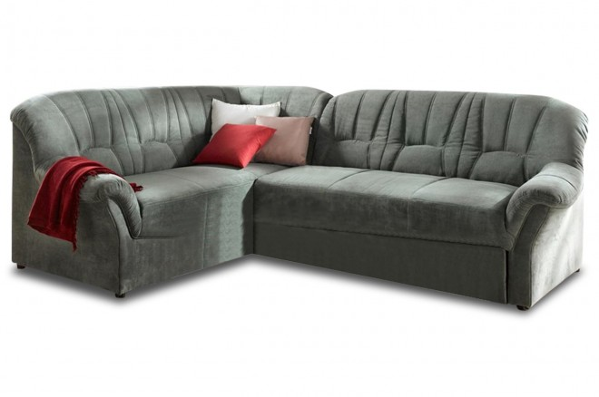 Ecksofa XL Mandy links - Gruen