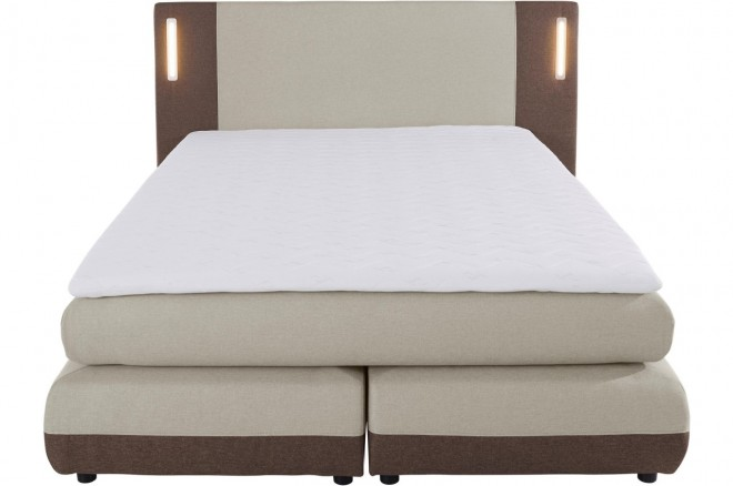 Collection AB Boxspringbett 140x200 Abano - mit LED - Beige