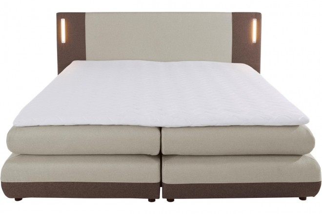 Collection AB Boxspringbett 180x200 Abano - mit LED - Beige