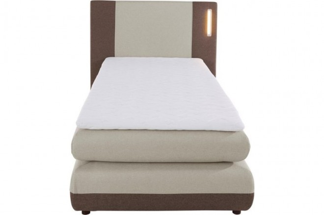 Collection AB Boxspringbett 90x200 Abano - Beige mit Boxspring