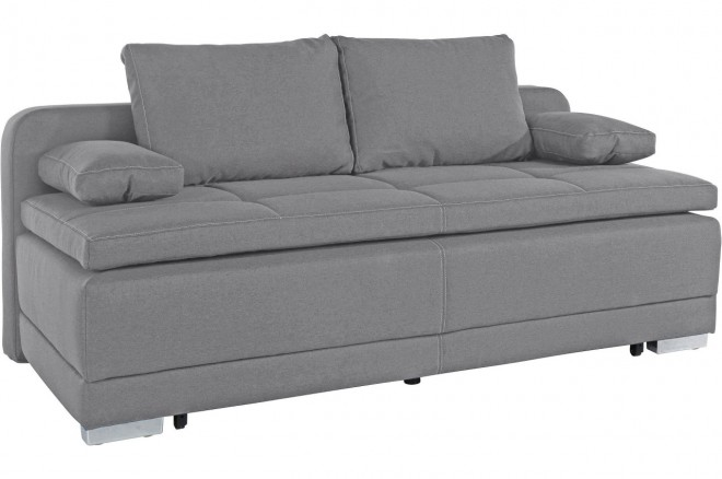 Collection AB 3er-Sofa Berlin - mit Schlaffunktion - Anthrazit