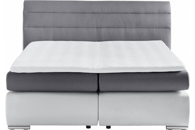 Collection AB Boxspringbett 180x200 Luna - Grau mit Boxspring