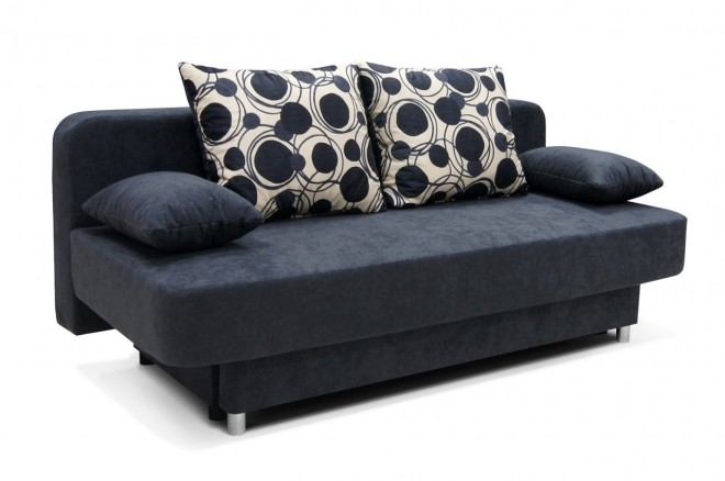 Collection AB 3er-Sofa Biene - mit Schlaffunktion - Anthrazit