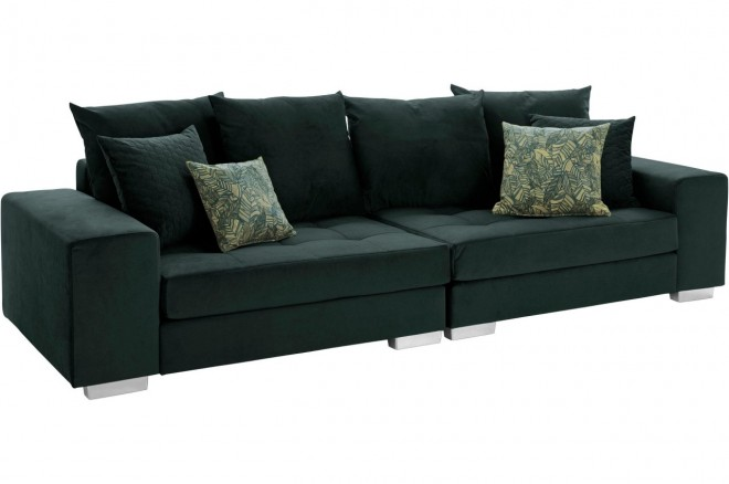 Collection AB Bigsofa Vale - Gruen mit Federkern
