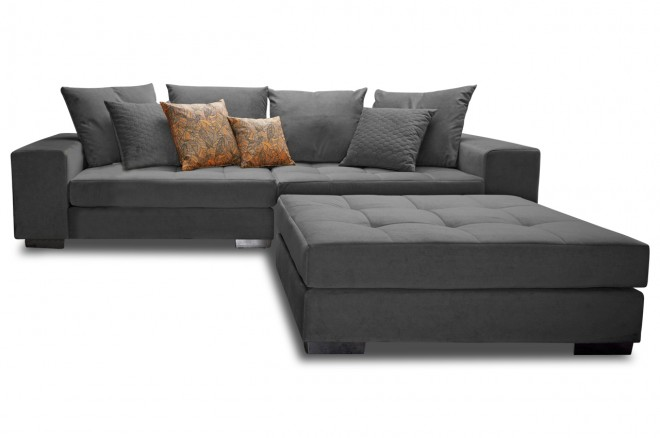 Collection AB Bigsofa Vale - Anthrazit mit Federkern
