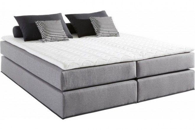 Collection AB Boxspringbett 180x200 Solution - Grau mit Boxspring