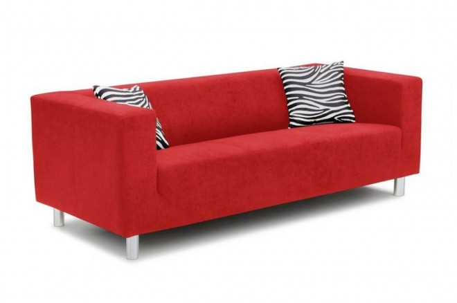Collection AB 3er-Sofa Clip - Rot