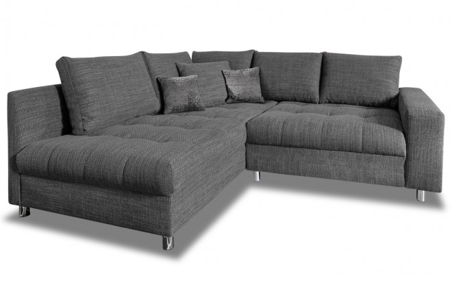 Castello Ecksofa XL Tobi 3 links - mit Schlaffunktion - Anthrazit