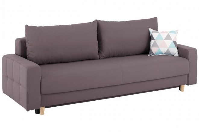 Collection AB 3er-Sofa Padua - mit Schlaffunktion - Taupe