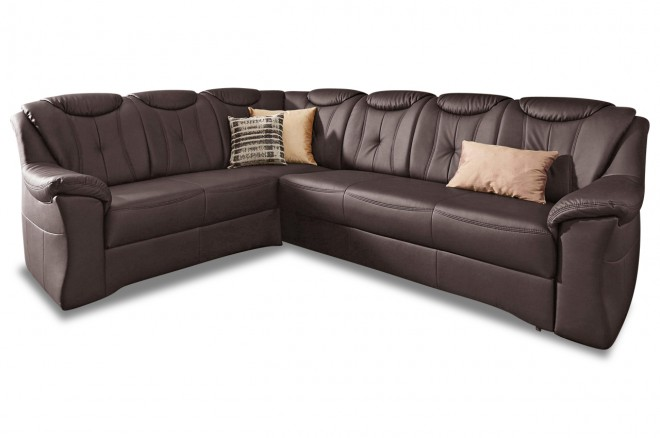 Furntrade Ecksofa XL Saloniki links - Mokka