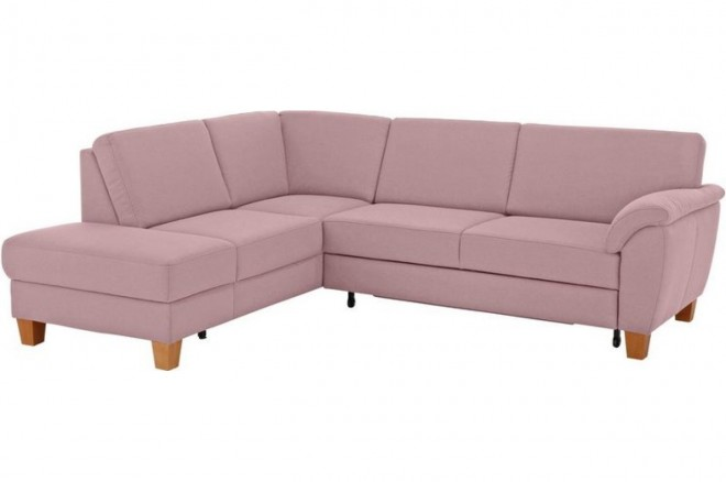 Ecksofa XL  links - Pink mit Federkern