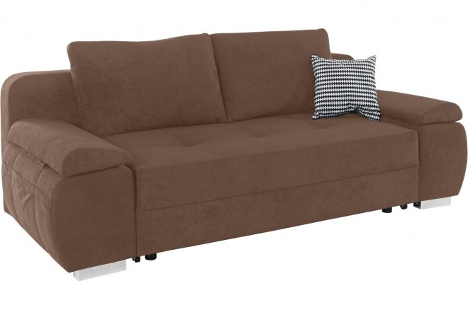 Collection AB 3er-Sofa Pumo - mit Schlaffunktion - Braun