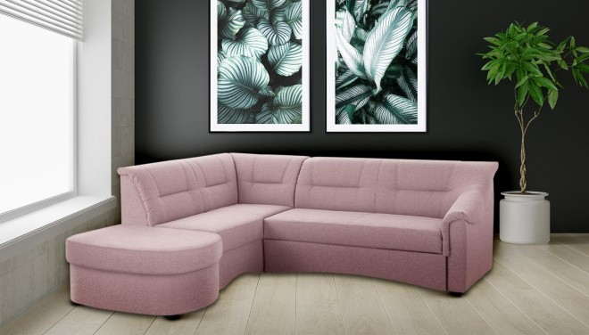 Ecksofa XL Charlotte links - Pink