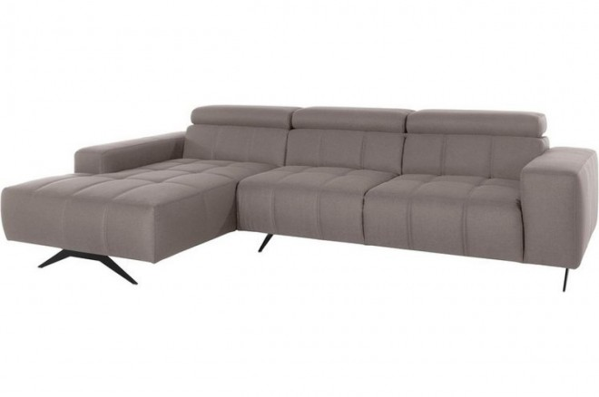 Ecksofa Trento links - Taupe