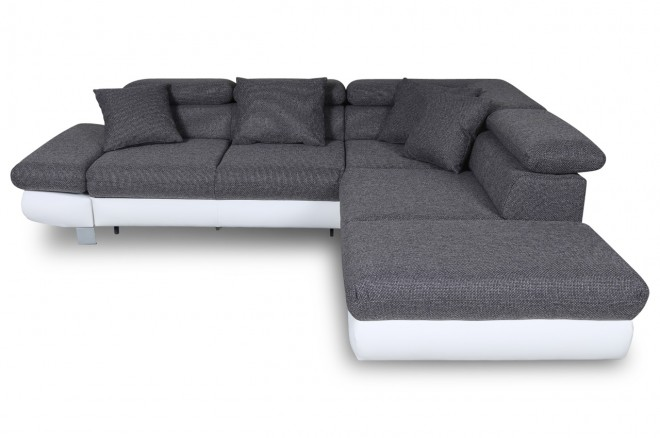 Sofa L-Form Sun-P rechts - mit Schlaffunktion - Anthrazit