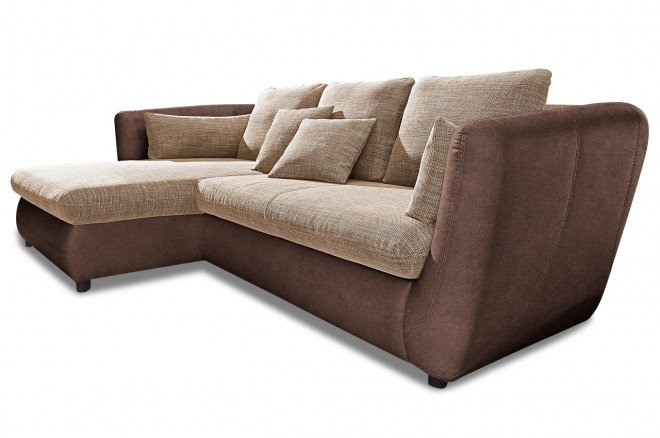 Home Group Ecksofa Rio - Braun