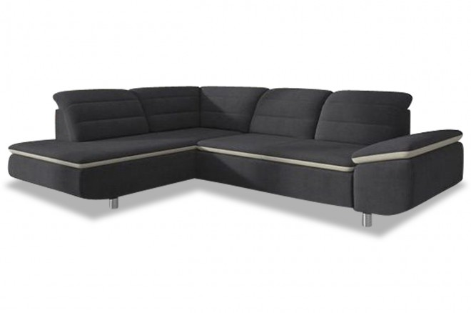 Ecksofa XL Slize links - Anthrazit
