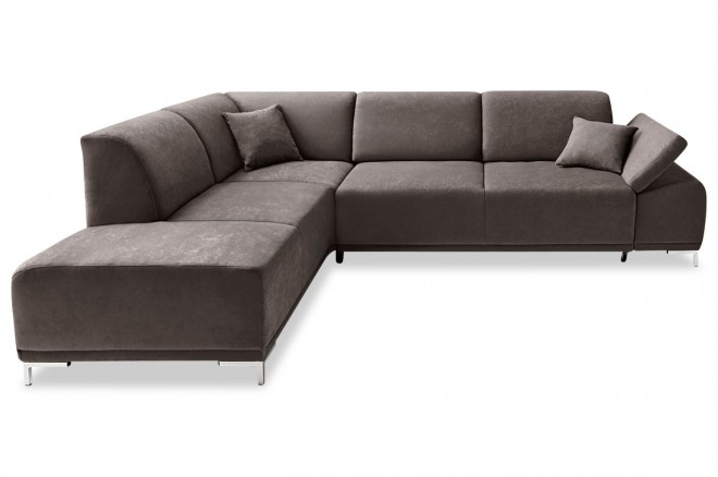 Ecksofa XL Saba Kis links - Grau