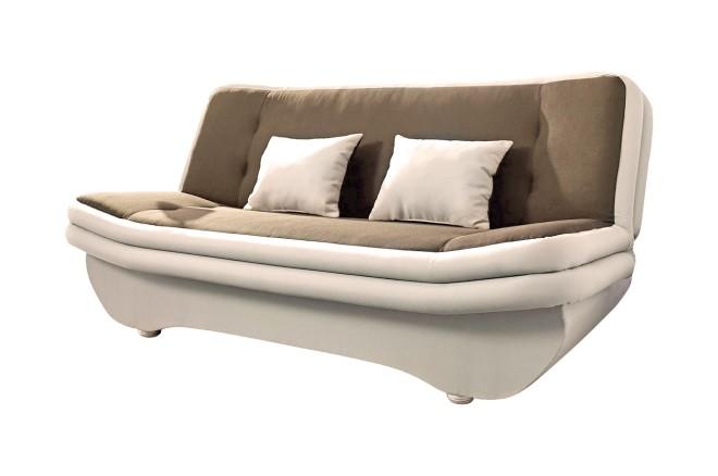 3er-Sofa Bols 98117 - mit Schlaffunktion - Braun mit Federkern