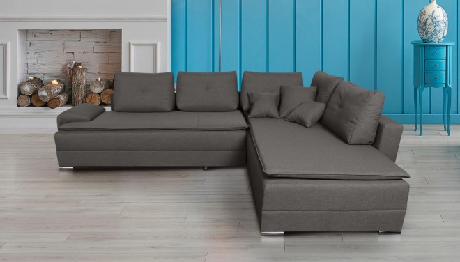 Collection AB Ecksofa XL N&D-P rechts - mit Schlaffunktion - Braun