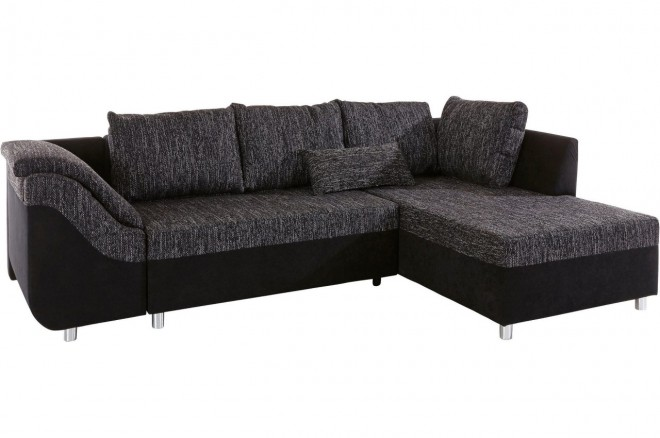 Collection AB Ecksofa Sally rechts - mit Schlaffunktion - Grau