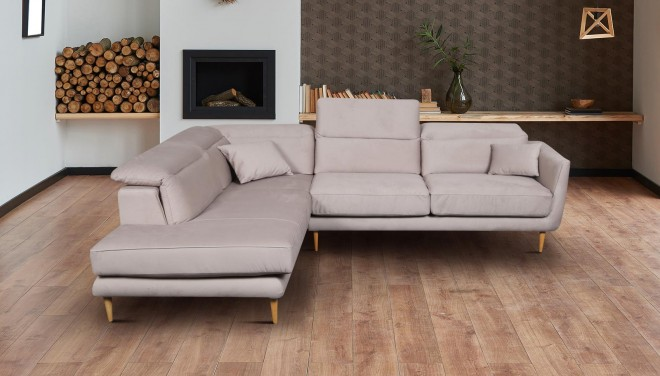 PL Ecksofa XL Salma-P links - Beige